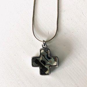 Swarovski rhinestone cross necklace